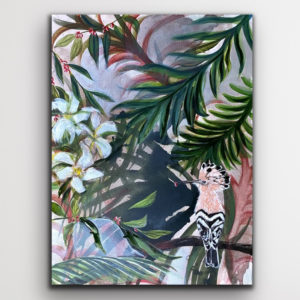 Among Papaya Flowers painting
