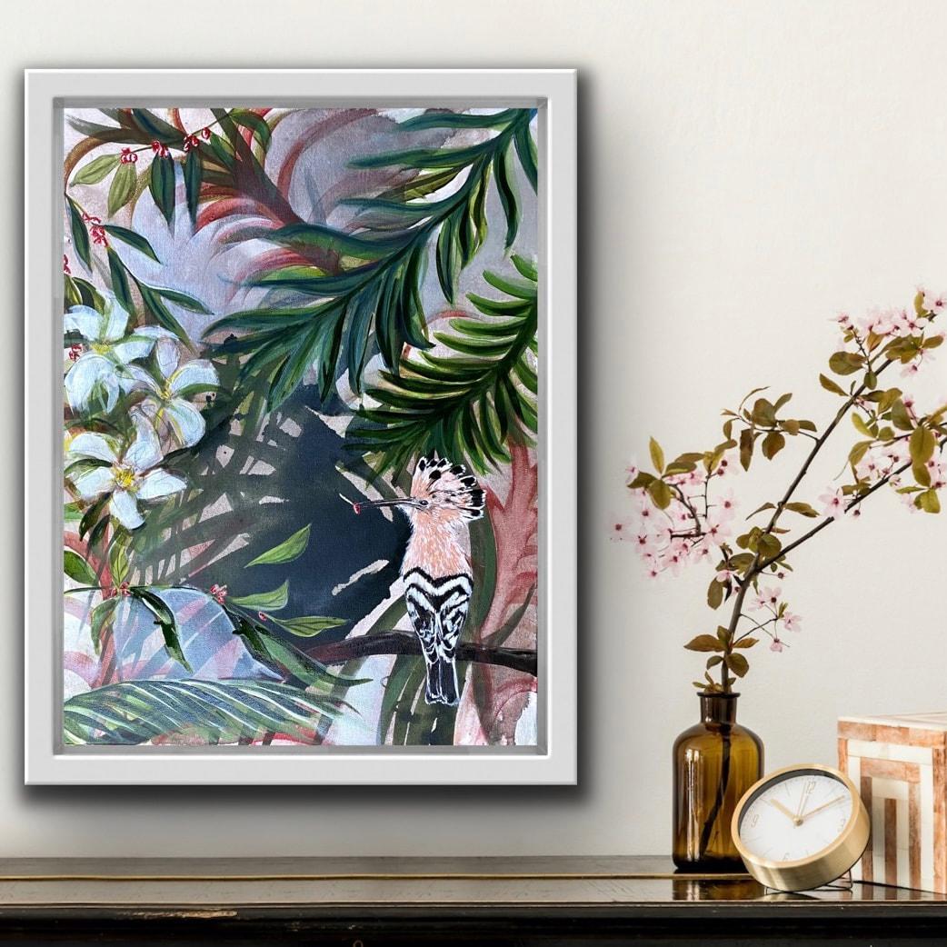 Among Papaya Flowers painting (alt. view)