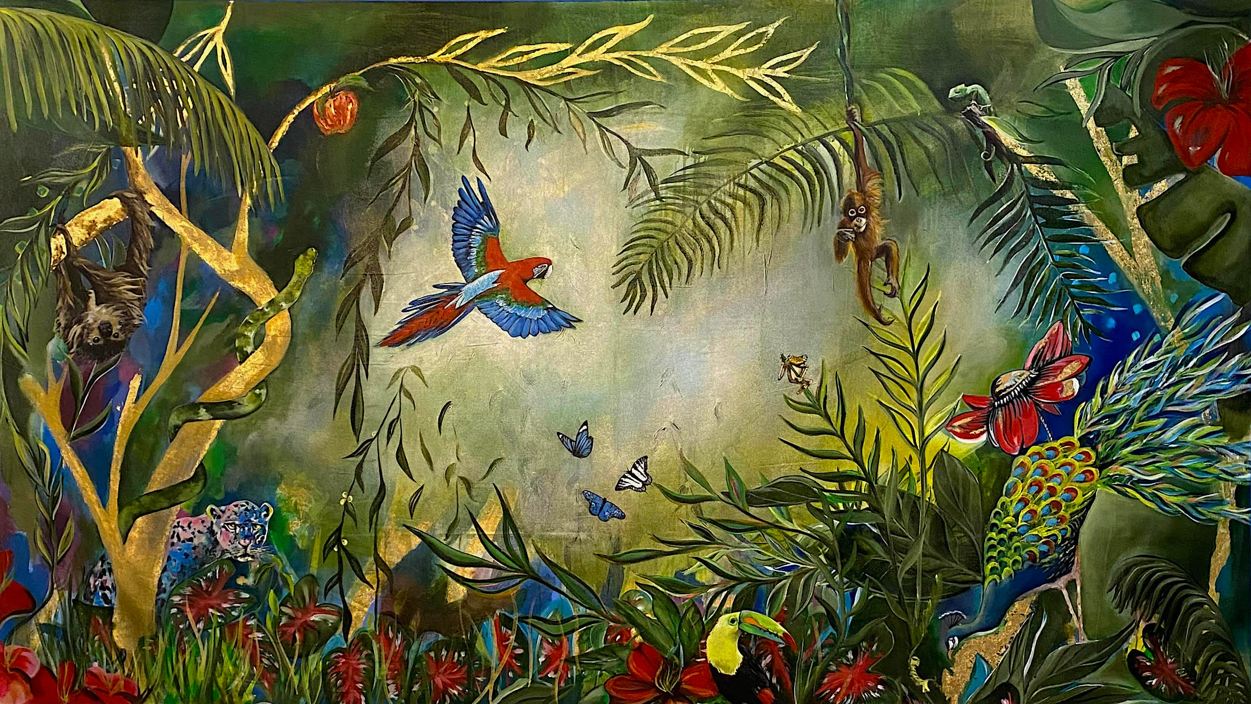Garden of Eden painting (alt. view)
