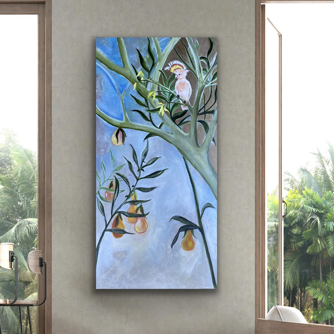 Perch & Pair painting (alt. view 3)