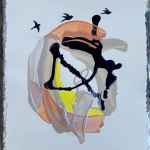 Abstracted Flight IV painting