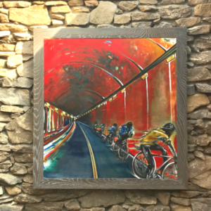 The Yellow Jersey painting