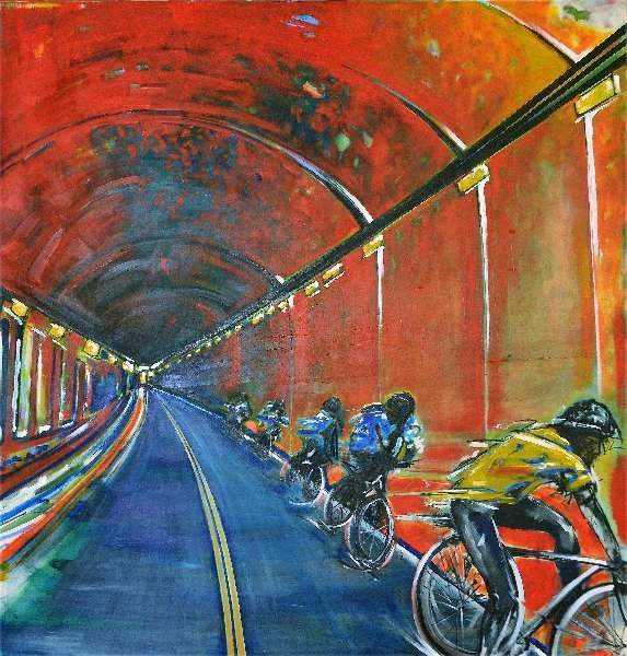 The Yellow Jersey painting (alt. view)