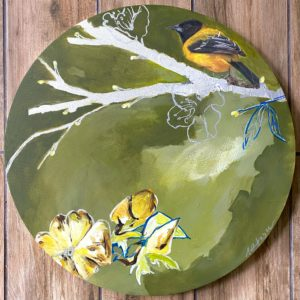 Yellow Warbler II painting