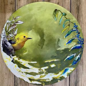 Yellow Warbler painting